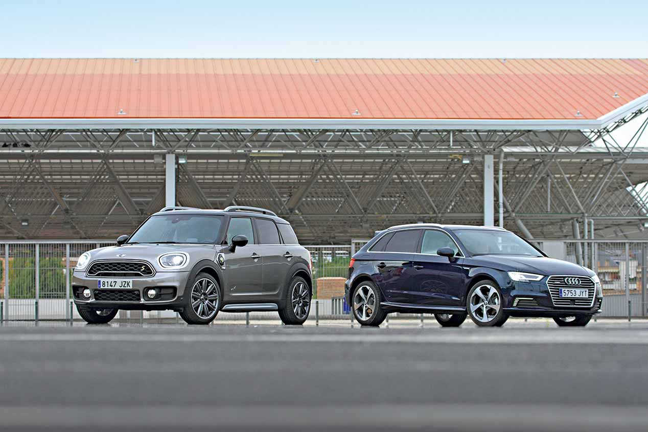 Audi A3 e-tron Sportback vs Mini Countryman Cooper S E ALL4