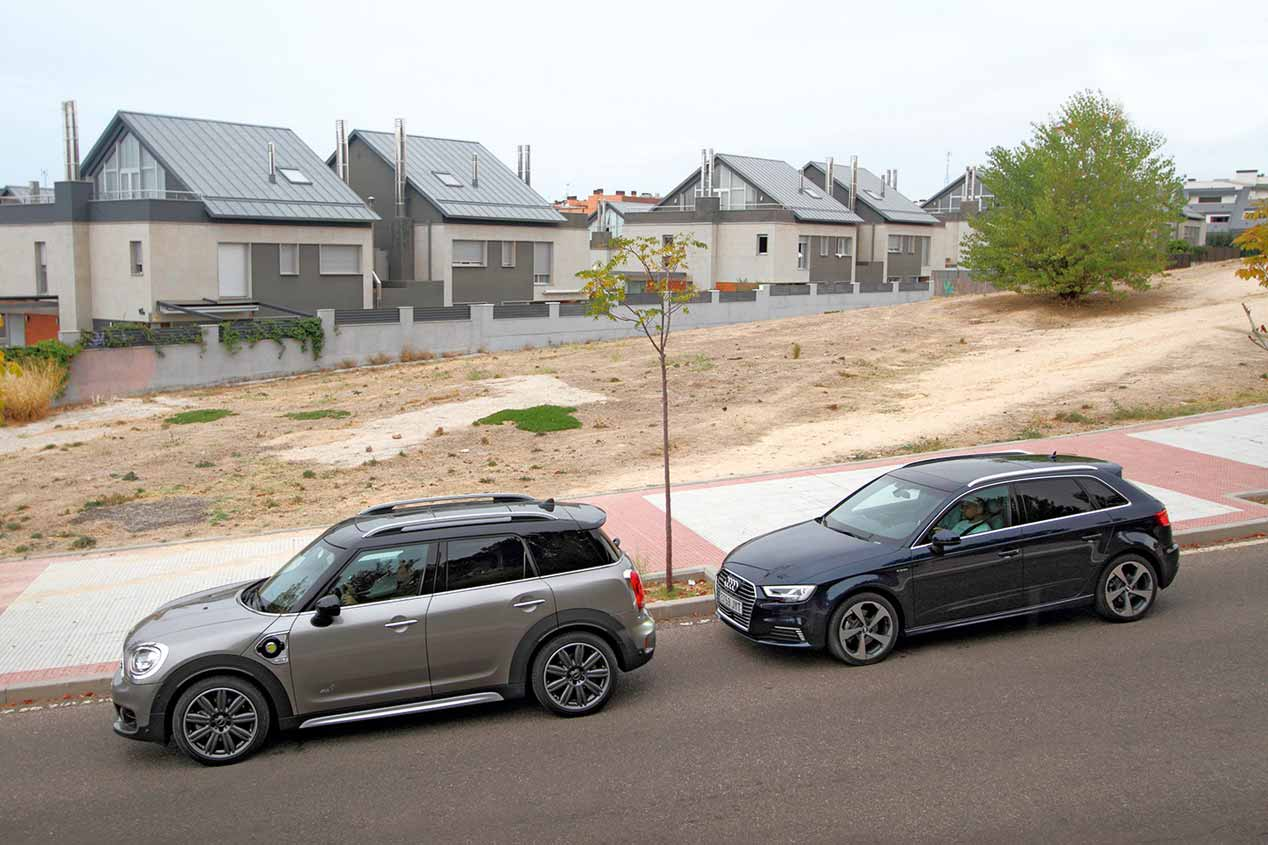 Mini Countryman vs Audi A3 híbridos enchufables