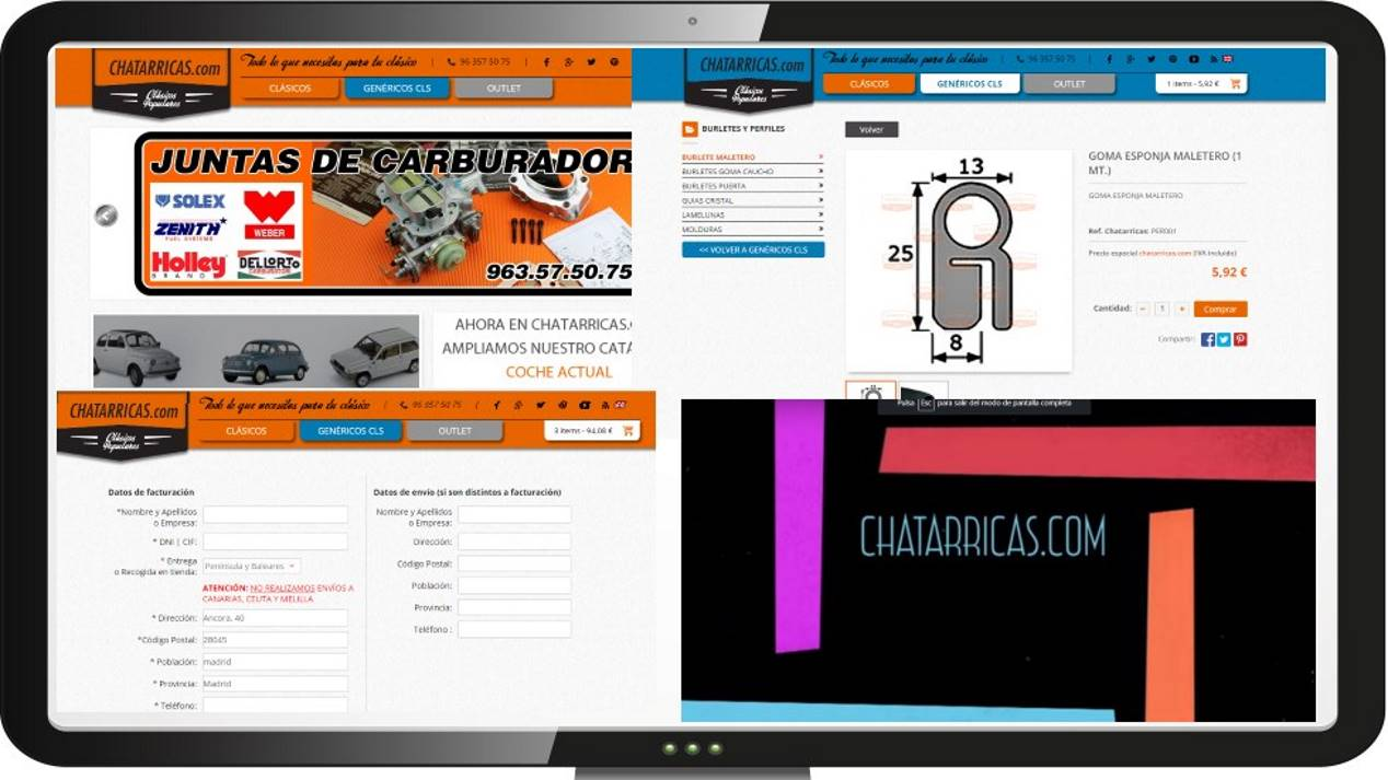 Chatarricas.com: piezas y materiales para tu coche clásico