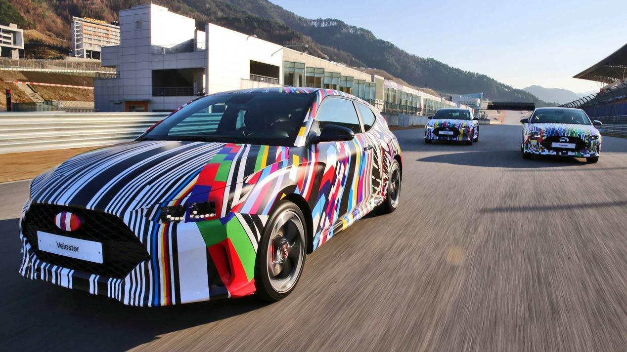 Hyundai Veloster 2019: vestido de camuflaje