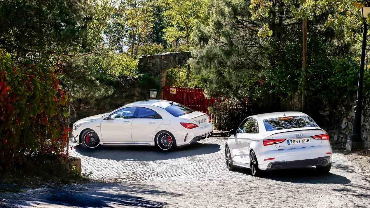 Comparativa entre Audi RS 3 Sedán y el Mercedes-AMG CLA 45