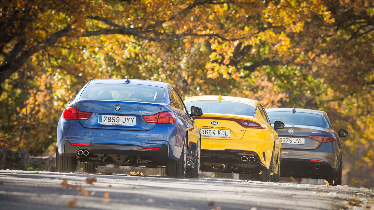 Alfa Romeo Giulia, BMW Serie 4 Gran Coupé y Kia Stinger, oda a las berlinas deportiva
