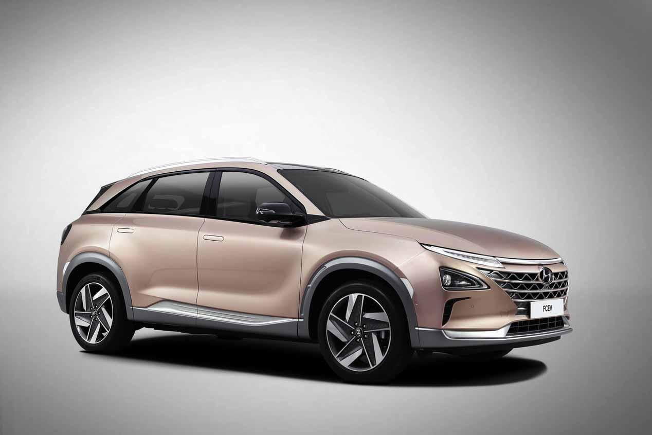 Hyundai FCEV de hidrógeno en el CES 2018