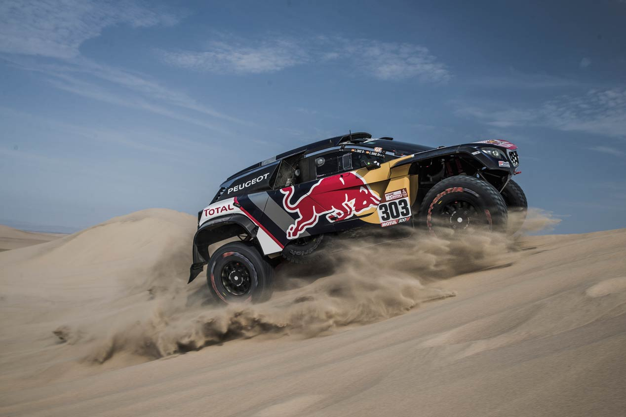 Las mejores fotos de Carlos Sainz en el Dakar 2018