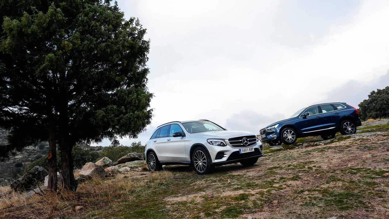Comparativa: Mercedes GLC 250 d vs Volvo XC60 D4