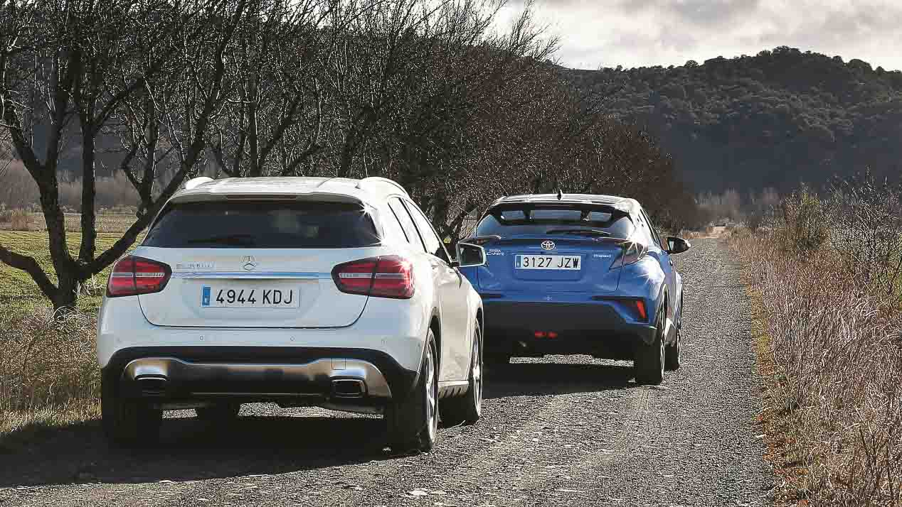 Comparativa: Toyota C-HR vs Mercedes GLA