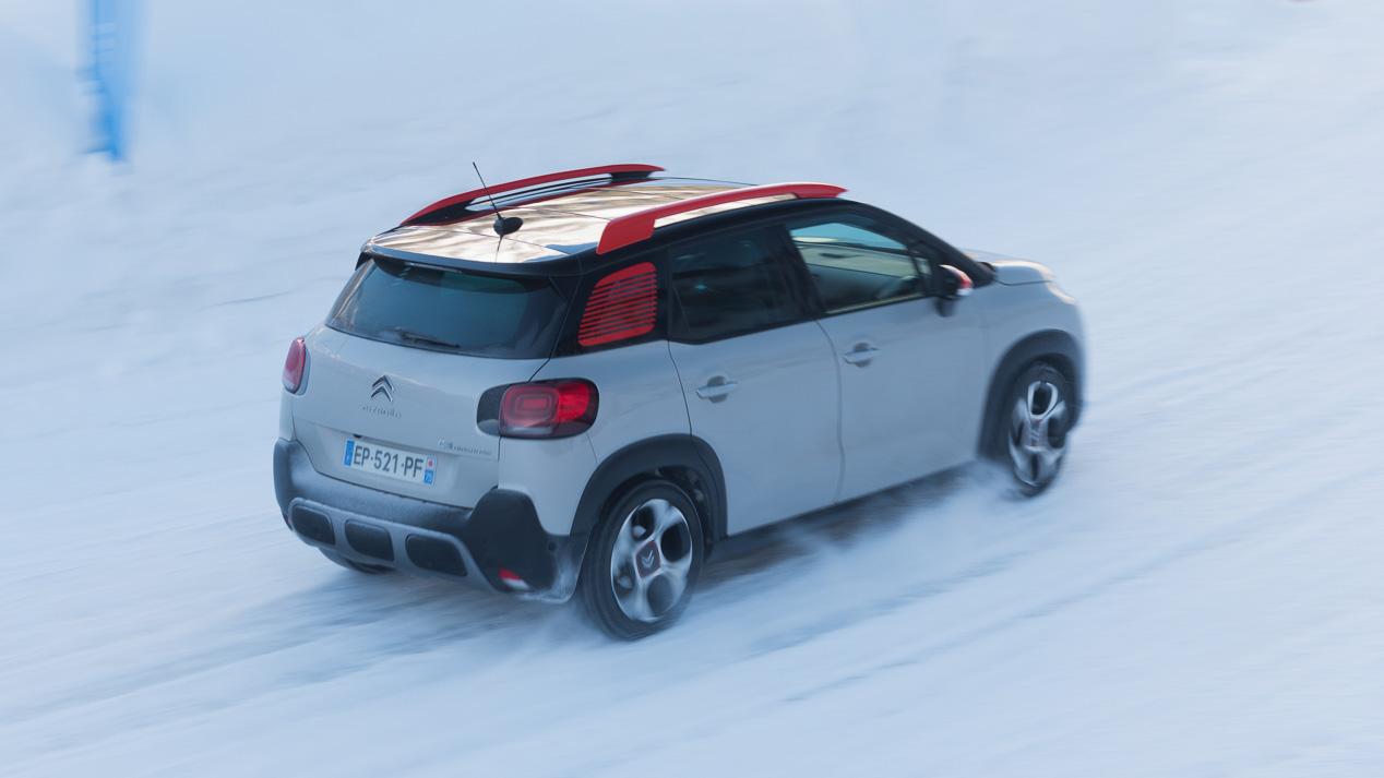 Probamos en nieve el C3 Aircross Grip Control