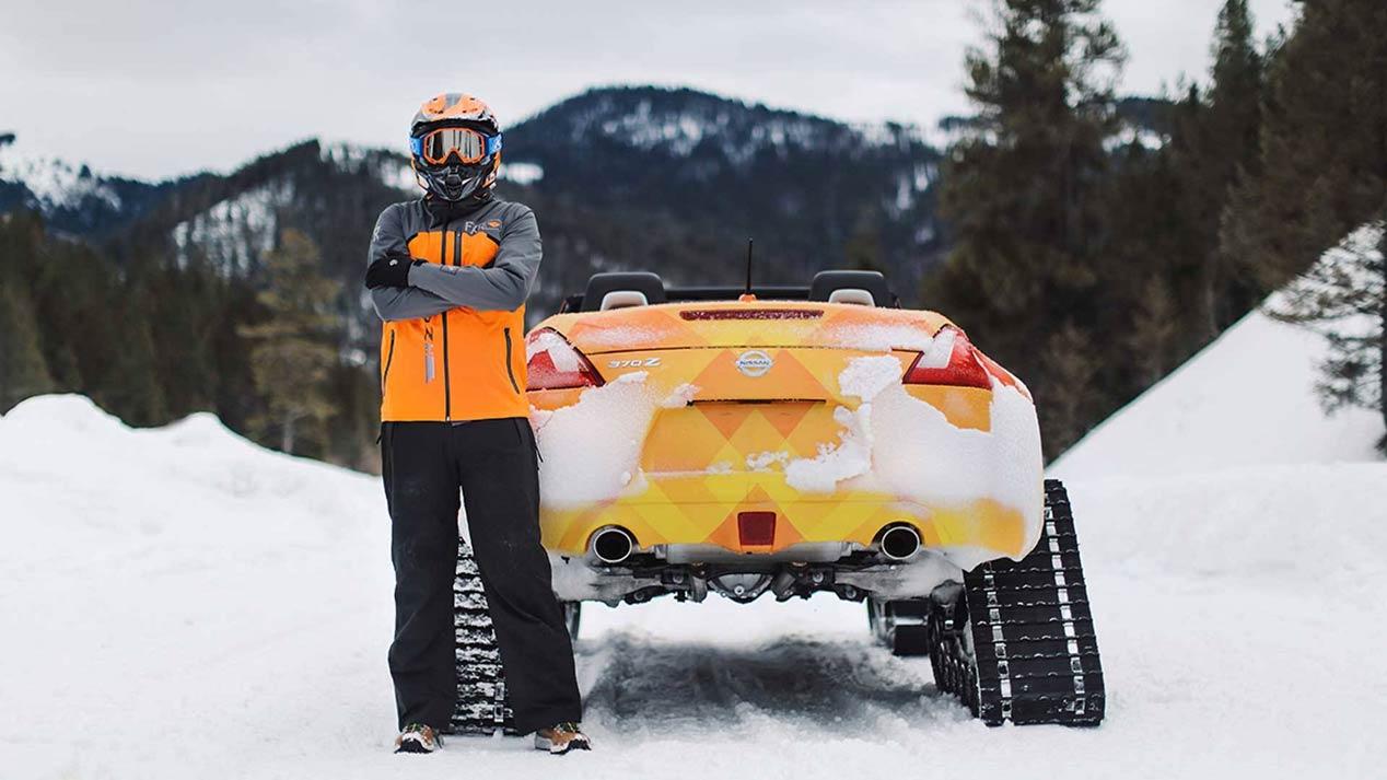 Nissan 370ZKi, con orugas y esquís