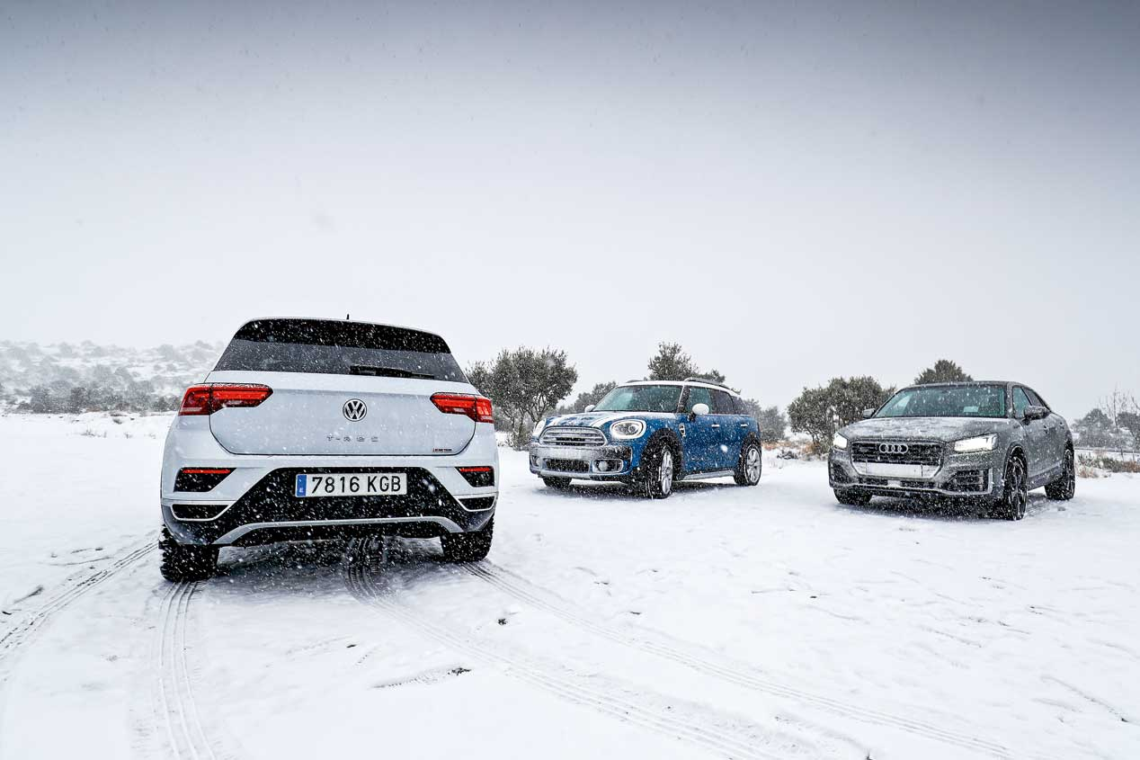 Audi Q2, VW T-Roc y Mini Countryman, supercomparativa SUV