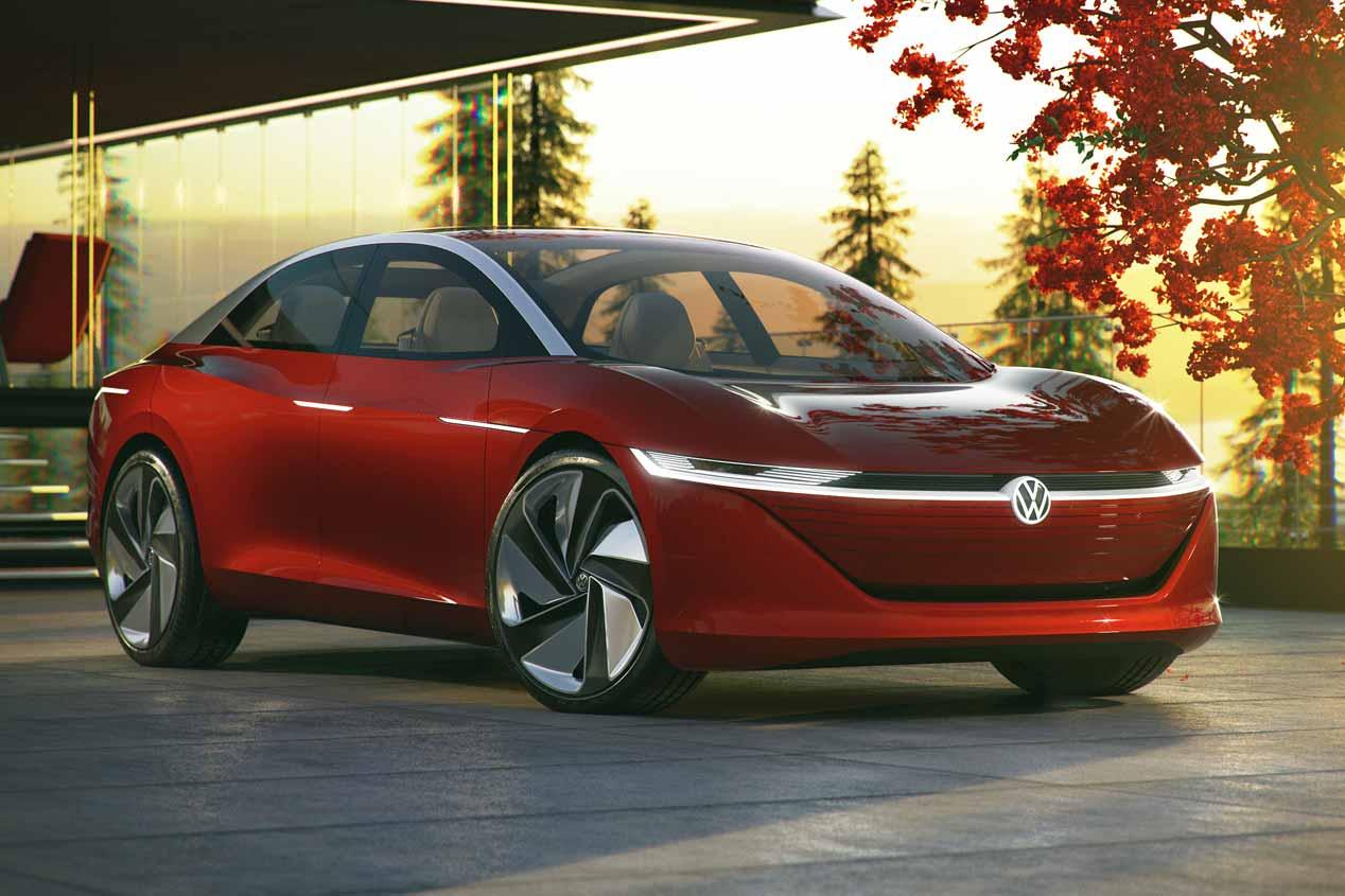 Volkswagen I.D. Vizzion: las imágenes de la nueva berlina eléctrica