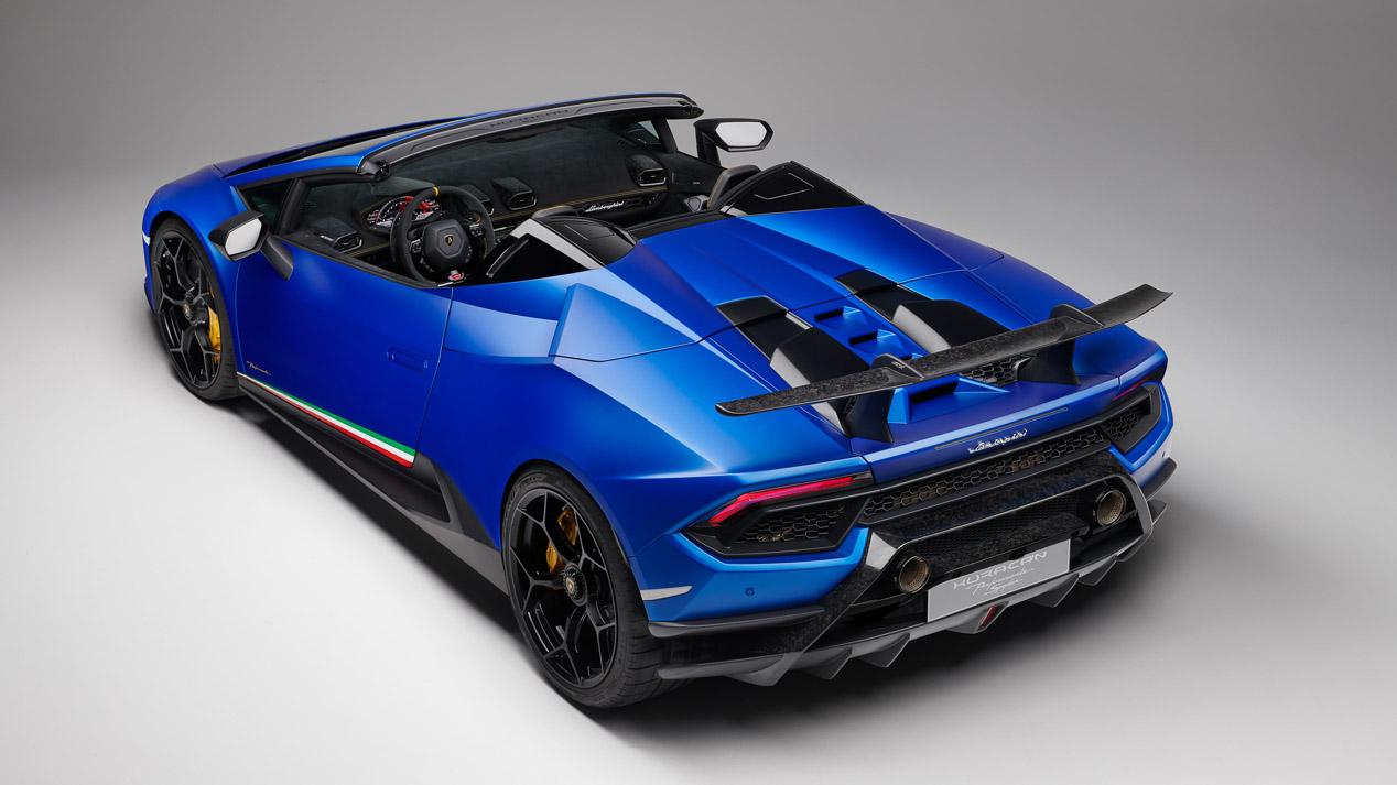 Lamborghini Huracan Performante Spyder, el descapotable atmosférico más rápido y potente
