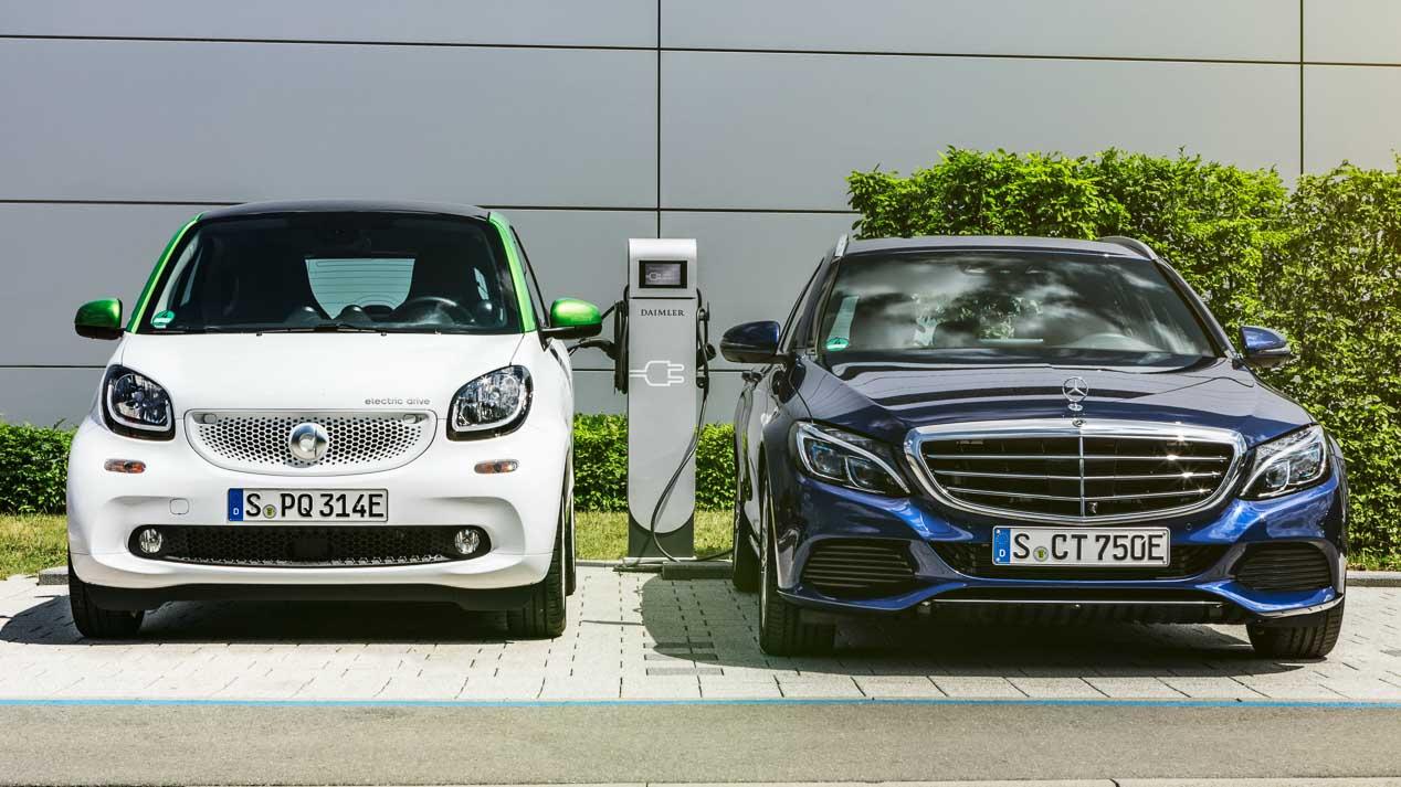 Nuevos Mercedes Clase C y Clase E híbridos plug-in Diesel