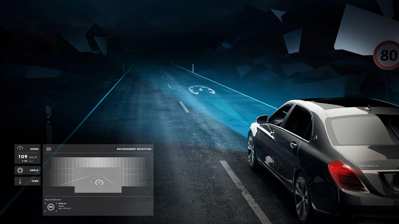 Mercedes Digital Light, los faros que proyectan información