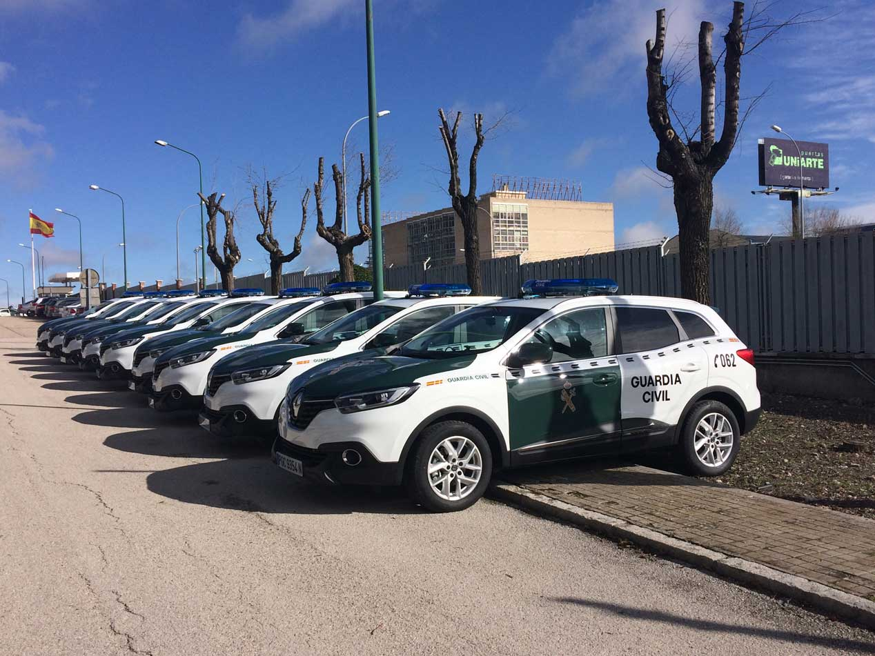 Renault Kadjar, nuevo coche de la Guardia Civil