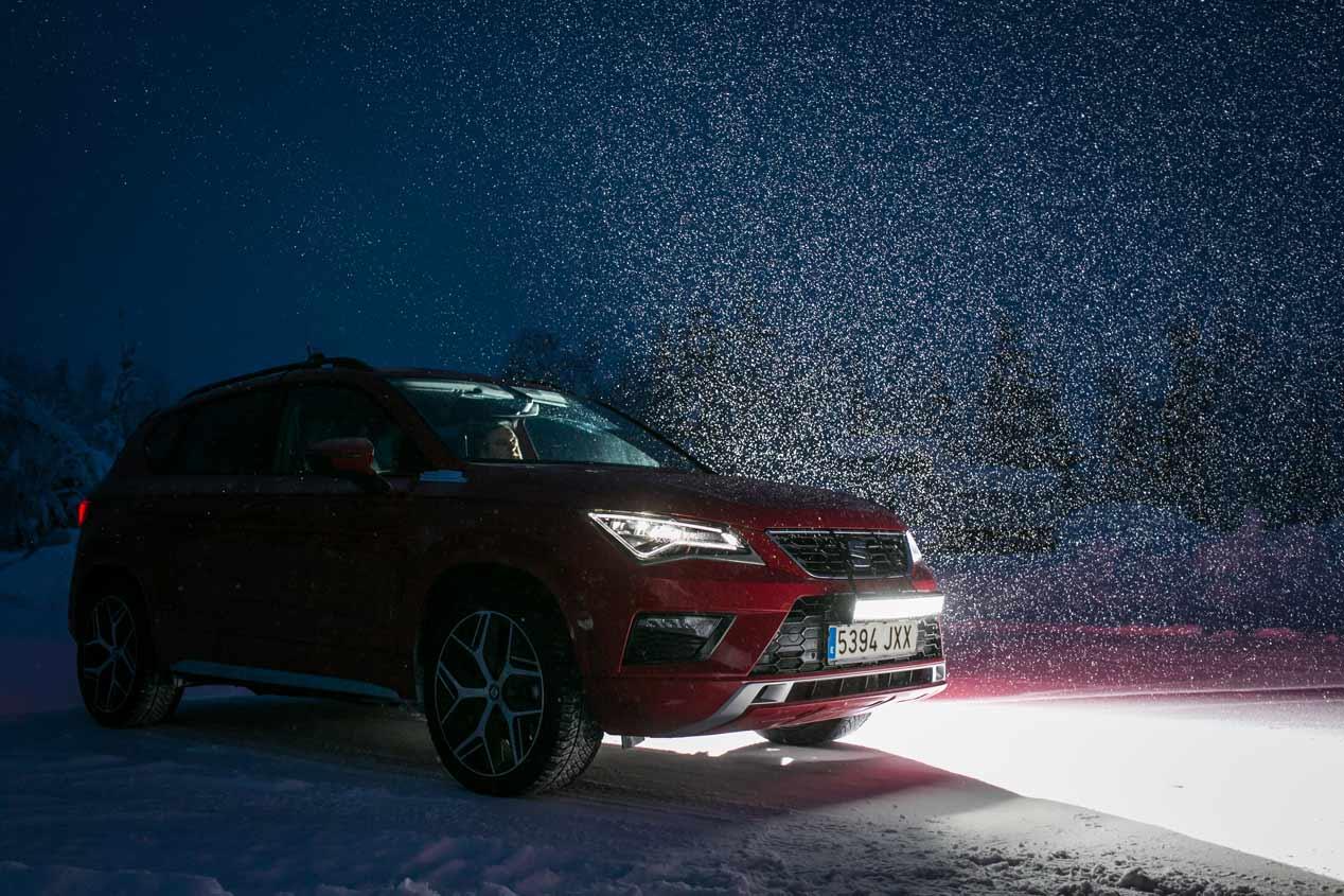 Así se desenvuelve el Seat Ateca FR en nieve y hielo