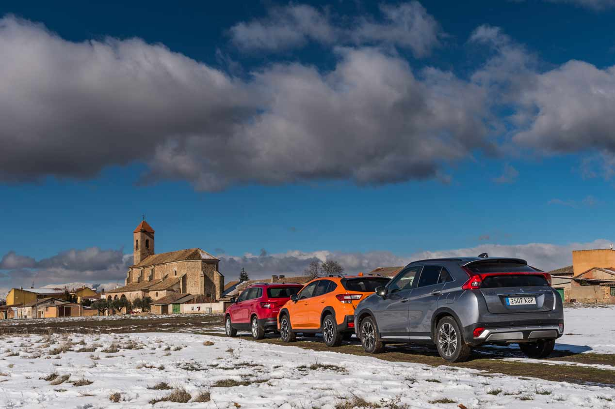 Comparativa SUV: Mitsubishi Eclipse Cross, Skoda Karoq y Subaru XV