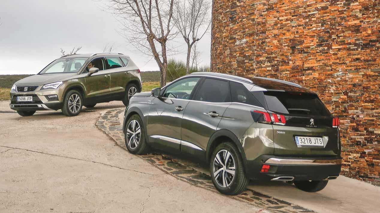 Comparativa: Peugeot 3008 1.5 BlueHDI vs Seat Ateca 1.6 TDI