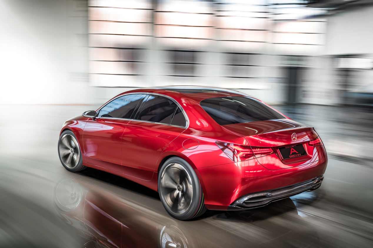 El Mercedes Clase A Sedán 2018, en el Salón de Pekín