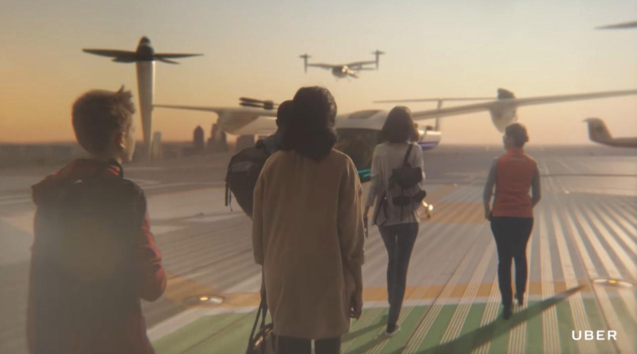 Así podrás reservar un taxi volador con Uber en el futuro