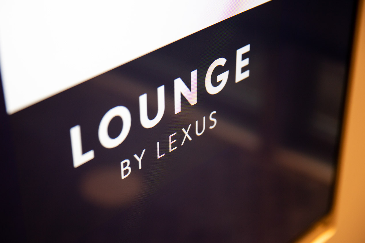 Exclusivo espacio Lounge by Lexus, en el aeropuerto de Bruselas