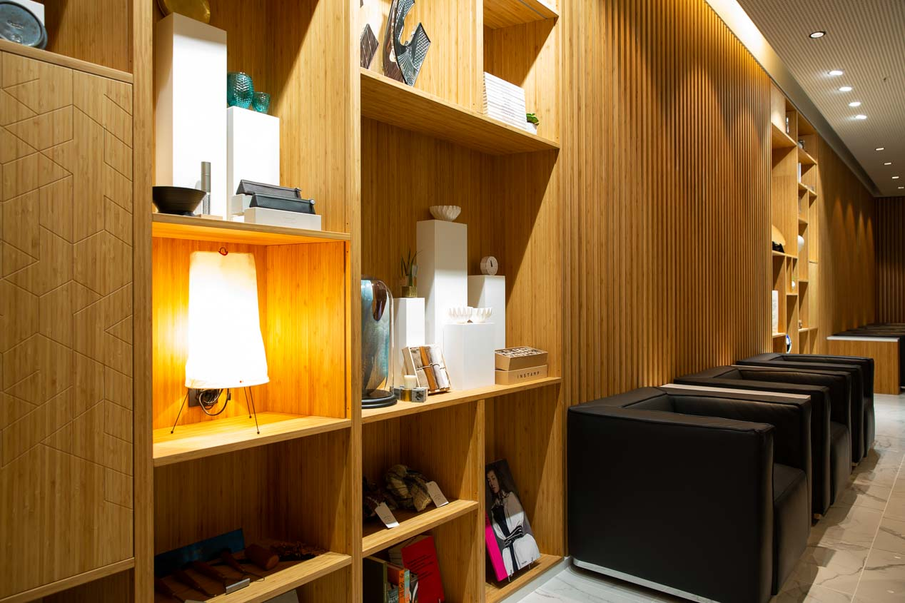 Exclusivo espacio Lounge by Lexus, en el aeropuerto de Bruselas