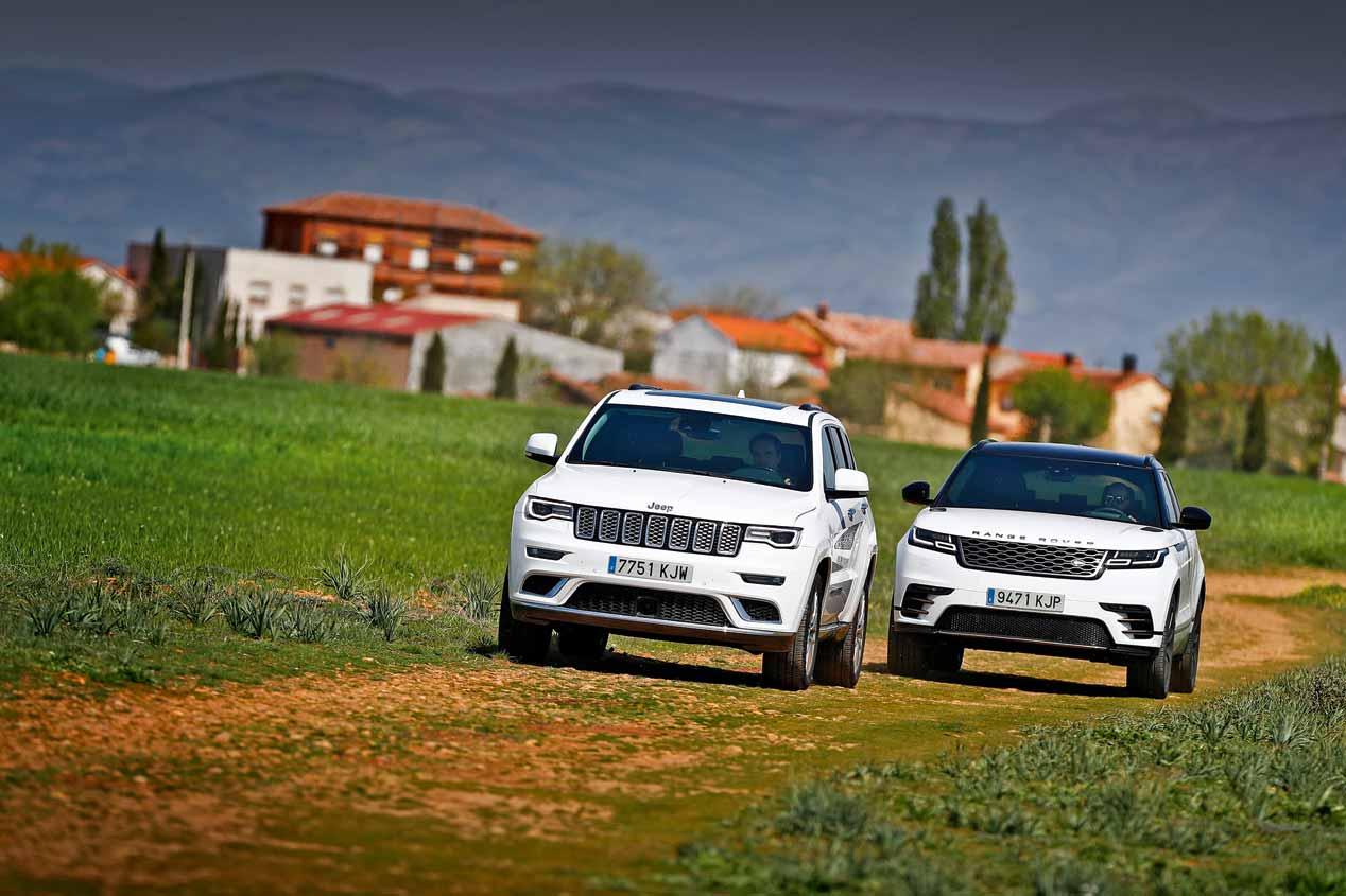 A prueba los Jeep Grand Cherokee y Range Rover Velar
