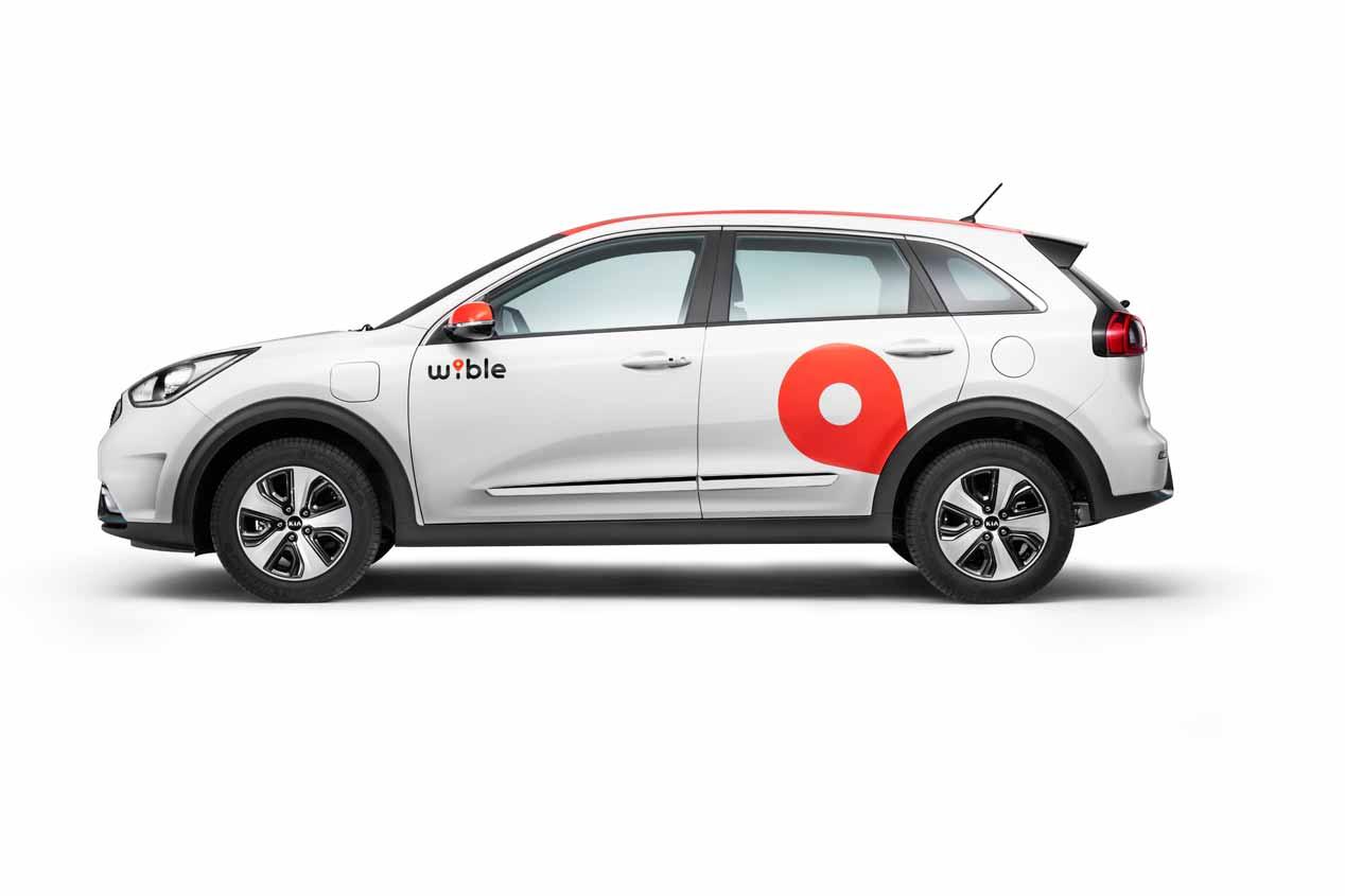 El servicio de carsharing Wible, con Kia Niro híbrido plug in