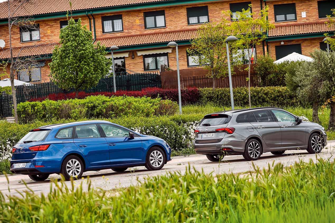 Fiat Tipo SW GLP y Seat León ST GNC: comparativa de coches de gas
