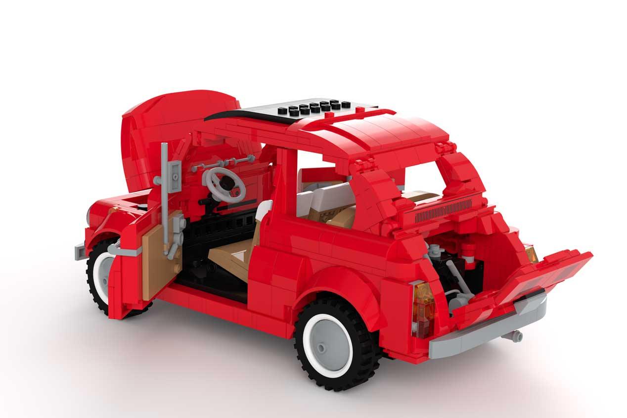 Un Fiat 500 como nunca lo habías visto... ¡De Lego!
