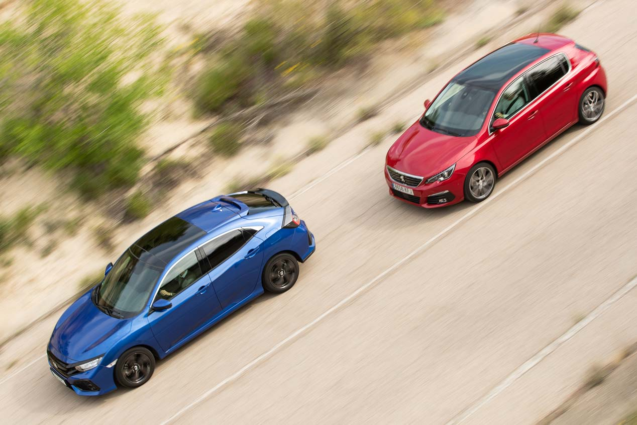 Honda Civic 1.6 i-Dtec vs Peugeot 308 1.5 BlueHDI