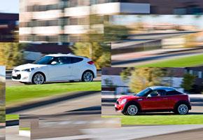 Hyundai Veloster 1.6 GDi Sport S DCT vs Mini Coupé Cooper S