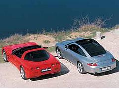 Chevrolet Corvette / Porsche 911 Carrera Targa