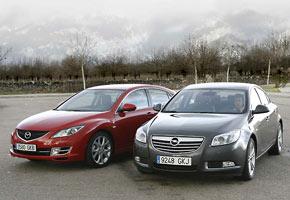 Mazda6 2.2 CRTD y Opel Insignia 2.0 CDTi