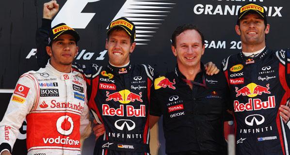 F1: Vettel suma y sigue en Corea