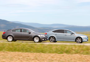 Ford Mondeo 2.0 TDCi PowerShift vs Opel Insignia 2.0 CDTi Active Select