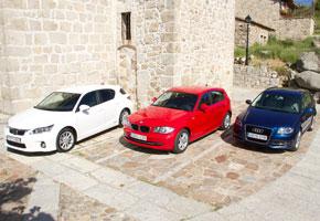 Audi A3 1.4 TFSI vs BMW 116i y Lexus CT 200h