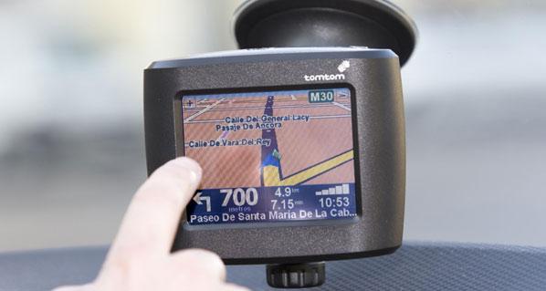 Prohibido manejar el GPS