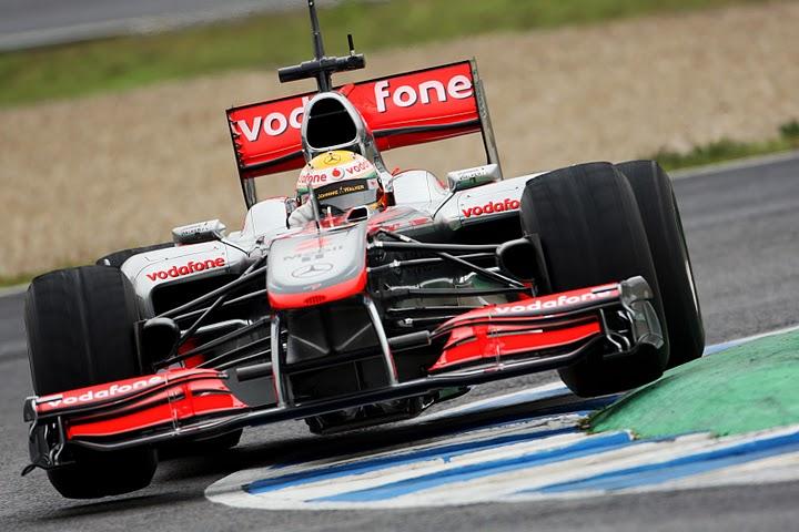 Entrenamientos en Jerez de F1.