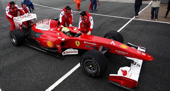F1: La lluvia protagoniza los test en Jerez