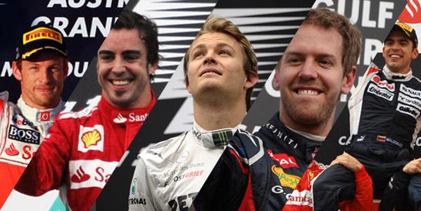 Todas las carreras de la temporada de F1