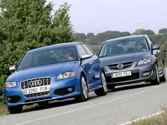 Audi S3 frente a Mazda3 MPS