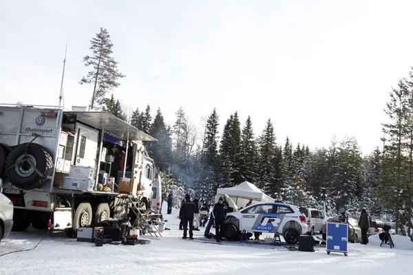 VW Polo WRC test Noruega