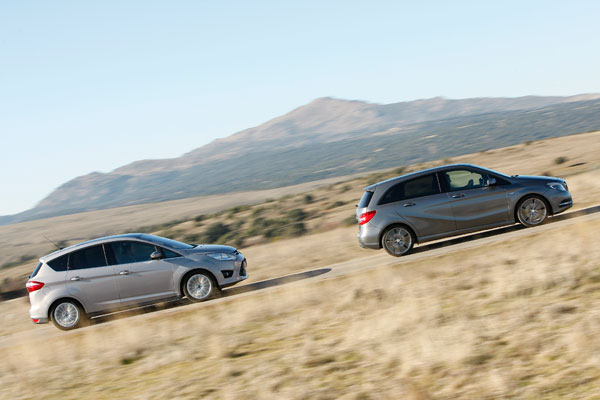Ford C-Max 1.6 Ecoboost vs Mercedes B200 BlueEfficiency