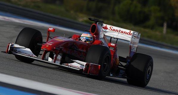 Primera prueba de Alonso con el Ferrari