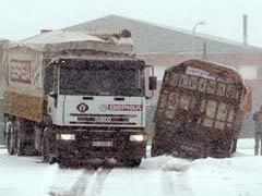 La nieve colapsa el norte de España
