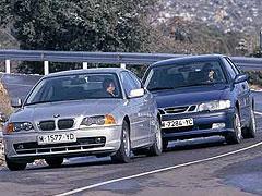 BMW 328 Ci / Saab 9.3 2.0 TS Aero Coupé