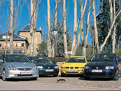 Fiat Stilo Abarth / Honda Civic Type-R / Seat León 1.8 T / Volkswagen Golf V5