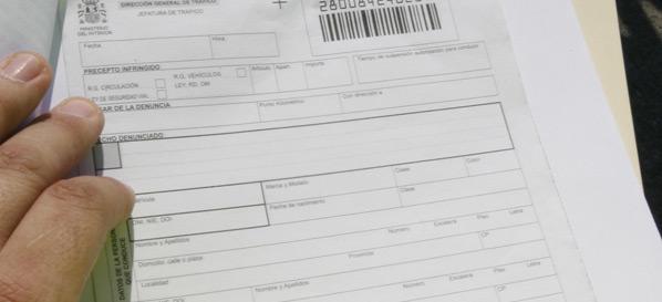 Una multa a un coche que no existe