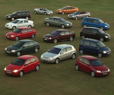 Gama Opel 2004