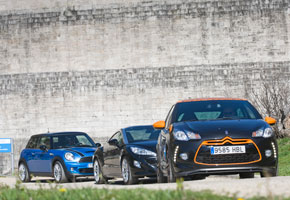 Citroën DS3 Racing vs Mini John Cooper Works y Peugeot RCZ